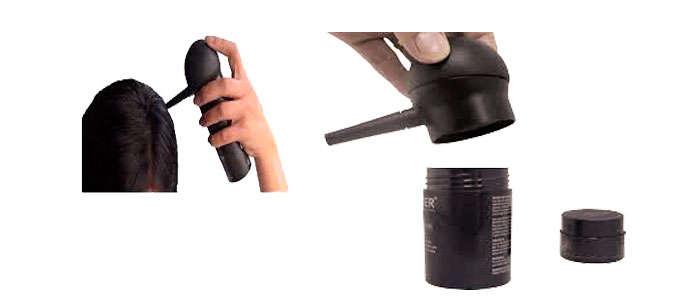 Aplicador de Fibras Capilares Toppik, Nanogen, K Max y genéricos