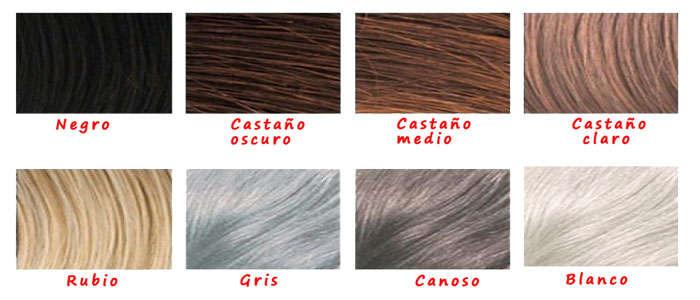 Colores de fibras capilares a la venta
